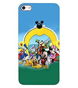 ColourCraft Lovely Cartoon Characters Design Back Case Cover for APPLE IPHONE 4