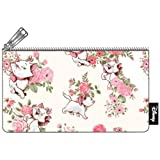 Loungefly Marie Floral AOP Pencil Case (Color: White, Pink, Tamaño: One Size)