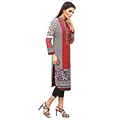 Ali Colours Trendy And Stylish Printed And Embroidered Kurta In Pure cotton Fabric For Women