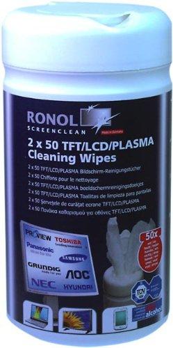 ronol-tft-lcd-plasma-screen-reinigungstucher-doppelspenderdose-50-feucht-50-trocken-zum-monitor-rein