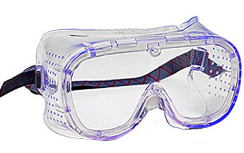 Bouton 248-5090-400B 550 Softsides Goggles with Blue Transparent Frame, Direct Side Ventilation and Clear Anti-Scratch/Anti-Fog Lens, 36-Pair