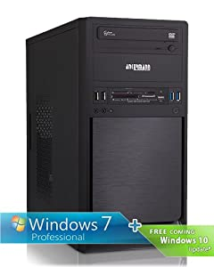 Ankermann-PCSorbus, AMD A8-6600K 4x 3.90GHz Turbo: 4.20GHz, ATI RADEON HD 8570D Graphics, Windows 7 Professionnel 64 Bit, 1TB Western WD/Toshiba HDD, 8 GB RAM, Be Quiet! System Power 7 300W, 24x DVD-RW Writer, Card Reader, Art.Nr.: 45355, EAN: 4260219654609