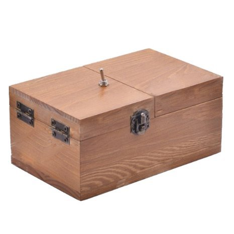 Turns Itself Off Useless Box Surprises Most Leave Me Alone Machine Fully Assembled in Real Wood