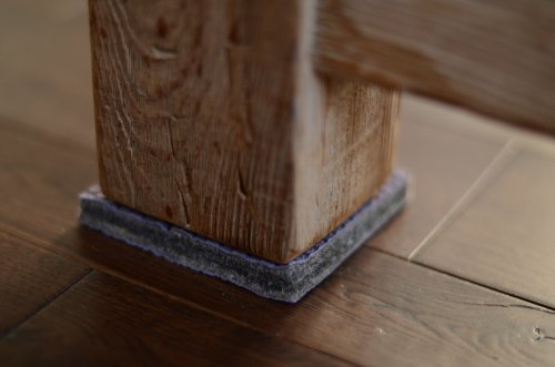 Dura Grip Heavy Duty 4 Square 3 8 Thick Non Slip Rubber No Glue Or Nails Furniture Floor
