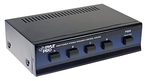 Pyle Home PSS4 4-Channel High Power Stereo Speaker Selector