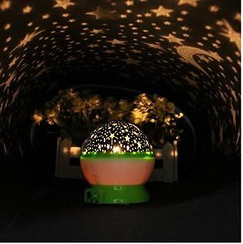 Projecteur boule lumiere ciel nuit etoile lamp veilleuse led deco chambre vert for Projecteur deco