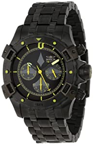Invicta Men's 1745 Aviator Chronograph Black Dial Ion-Plated Stainless Steel Watch