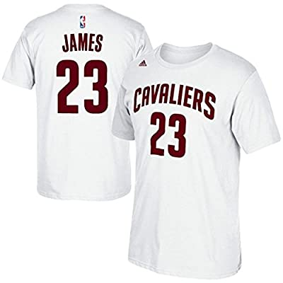 Lebron James Cleveland Cavaliers White Jersey Name and Number T-Shirt