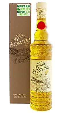 Venta del Baron - Award Winning Cold Pressed EVOO Extra Virgin Olive Oil, 2013-2014 Harvest, 17-Ounce Glass bottle