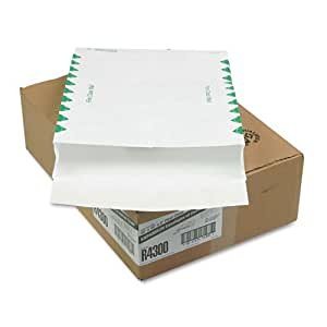 Quality Park R4300 Quality Park Tyvek Open End Exp Envelopes, 1st Class, 12x16x2, White, 100/Ctn