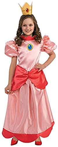 Child Super Mario Bros Princess Peach Costume Size:Large