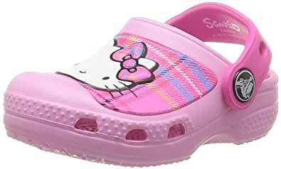 Crocs Cc Hello Kitty Plaid Clog Eu, Sabots fille, Rose (Carnation/Neon Magenta), EU 29-31 (C12/13)