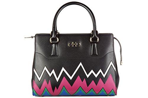 Salvatore Ferragamo borsa donna a mano shopping in pelle nuova beky nero