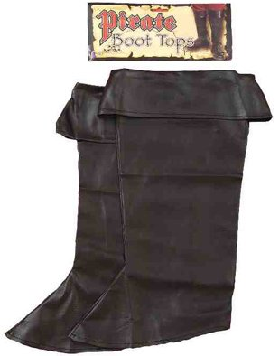 Child Vinyl Pirate Boot Tops - 1