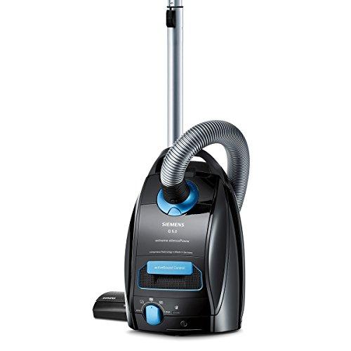 Siemens-VSQ5X1230-Bodenstaubsauger-Q50-extreme-Silence-Power-EEK-B-850-Watt-4-L-Staubbeutelvolumen-Hochleistungs-Hygienefilter-schwarz