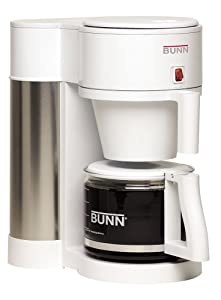 BUNN NHBW Velocity Brew 10-Cup Home Coffee Brewer, White by Bunn