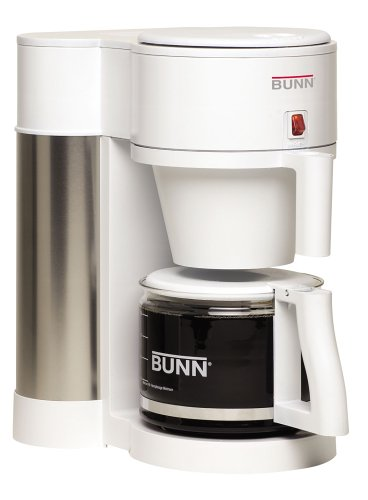 BUNN NHBW Velocity Brew 10-Cup Home Coffee Brewer, White