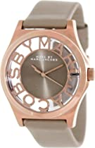 Marc by Marc Jacobs Henry Brown Cut-out Dial Rose Gold Ion-plated Ladies Watch MBM1245