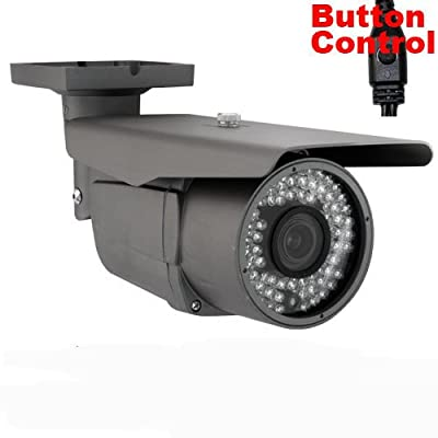 GW Security Surveillance Video 900TVL CCTV Outdoor Security Camera, 2.8-12 mm Varifocal Lens, 72 Piece LED, 196-Feet IR Distance