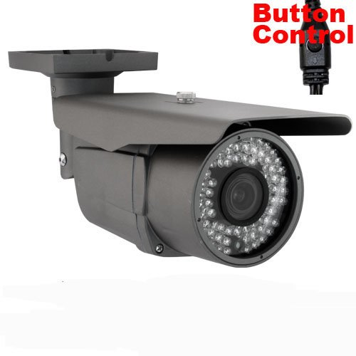 Gw Security Professional Surveillance Video 700Tvl Cctv Outdoor Security Camera - 1/3-Inch Sony Exview Had Ccd Ii With Effio-E Dsp Devices, 700 Tv Lines, 2.8-12Mm Varifocal Lens, 72Pcs Ir Led, 164Ft Ir Distance. (Black)