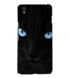 Cat with Blue Eyes 3D Hard Polycarbonate Designer Back Case Cover for OnePlus X :: One Plus X :: One+X