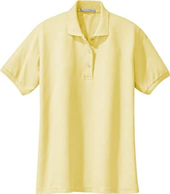 Port Authority Ladies Silk Touch™ Polo. L500 (Banana) (X-Small)