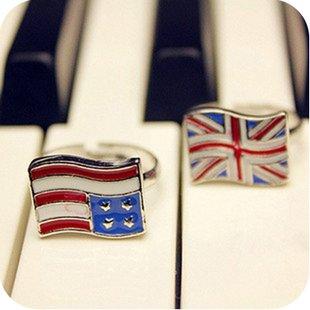JE265 USA Symbol Ring, Ring Flagge, Amerikanische Freiheit Ring 1 Stück