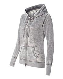 J America Women\'s Vanity Zen Fleece Full-Zip Hooded Sweatshirt