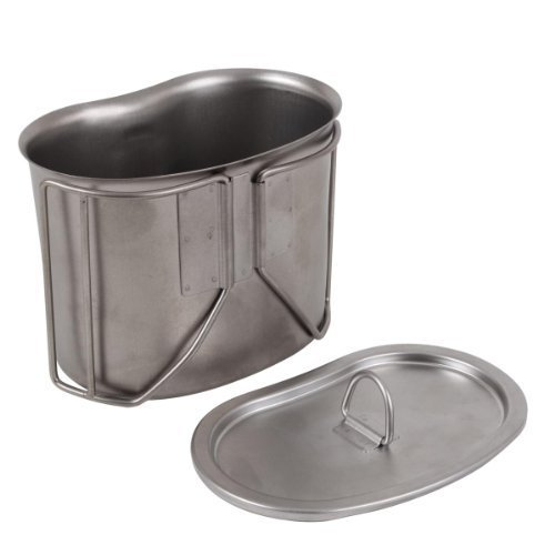 G.I. Type Stainless Steel Canteen Cup with Lid by Rothco
