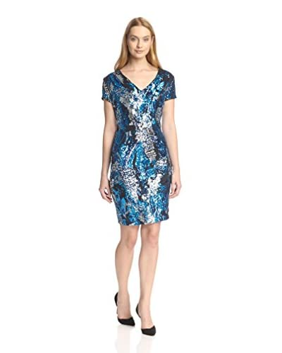 Alexia Admor Women's Cap Sleeve Sequined Sheath Dress