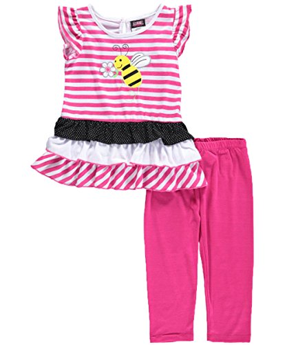 "Angel Face Little Girls' Toddler ""Smiling Bee"" 2-Piece Outfit"