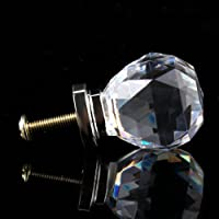 10pcs 30mm Diamond Crystal Glass Door Drawer Cabinet Furniture Handle Knob Screw from BestMall Co., LTD