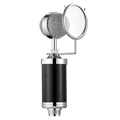 Generic-BM700-35mm-Professional-Studio-Recording-Cardioid-Condenser-Microphone-Kit-with-Mic-Shock-Mount-Black-Anti-wind-Foam-Cap-Audio-Cable-Ideal-for-Radio-Broadcasting-Studio-Voice-over-Sound-Studio