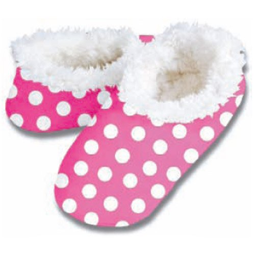 Cheap Snoozies Bold Dots Slipper No Skid Footwear Pink L (100-247P)
