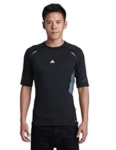adidas Herren kurzärmliges Shirt Techfit Preparation, black, S, W58876