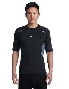 adidas Techfit Preparation Men's Short-Sleeved Shirt - 2XL, Black