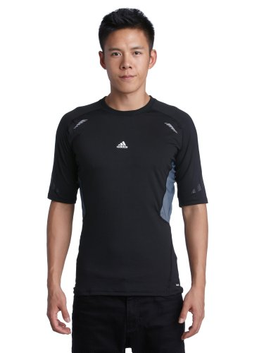 adidas, Maglietta manica corta Uomo Techfit Preparation, Nero (black), L