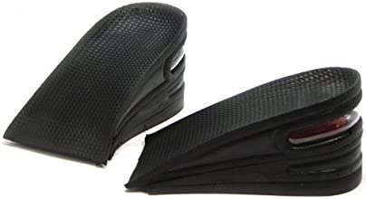 25 inches 6cm 3Layer Shoe Insoles Air Cushion for Women and Men Height Increase Taller Pad Black Hee