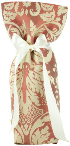 CHC-Beverly Hills CHIC, High End Wine/ Champagne Fabric Gift Bag Red and Beige Ribbon, One Size (How To Make The Ch compare prices)