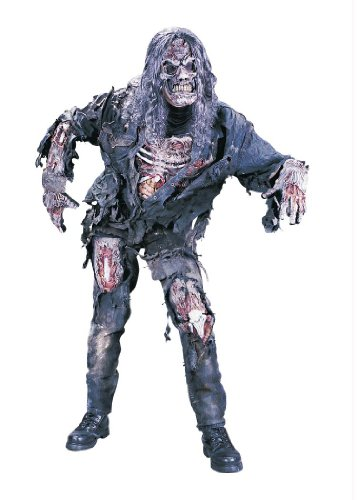 Complete 3-D Zombie Teen Costume, 14-16, Gray back-185568