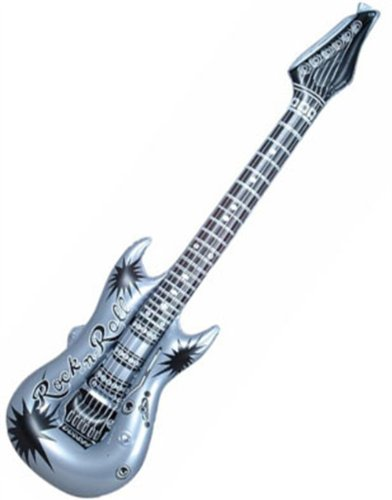 Inflatable Silver Hero Costume Party Decoration Guitar