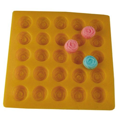 Rose Yellow Soft Candy Rubber Flexible Mold (Rubber Cream Cheese Mint Mold compare prices)