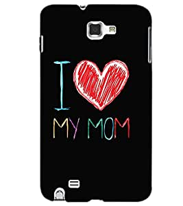 SAMSUNG GALAXY NOTE 1 I LOVE MOM Back Cover by PRINTSWAG
