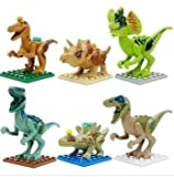 Lego Compatible Jurassic World Dinosaur Toy 6PCS/set Building Blocks Cartoon Movie Jurrassic Park 4 Dinosaur Bricks Toy (Without Original Box)