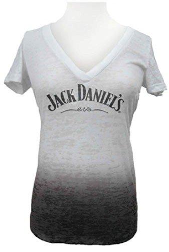 Jack Daniel'S Dip Dye Burnout Womens Tshirt, Small