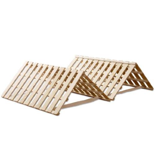 タンスのゲン すのこマット シングル 折りたたみ 四つ折りタイプ 完成品 風-kaze- 1761000400