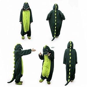 "COS365 Dinosaur Kigurumi Pajamas Adult Anime Cosplay Halloween Costume ,size L (68"" -70"")"