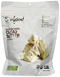 SunFood Organic Golden Cacao Butter -- 1 lb