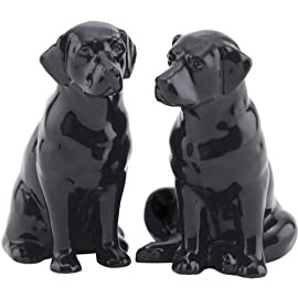 Quail Ceramics - Black Labrador Salt And Pepper Pots