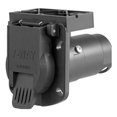 Curt Manufacturing 58417 7 Way Rv Socket With Mounting Bracket, Pkg